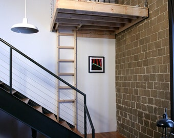 Suspended Loft with Trap Door