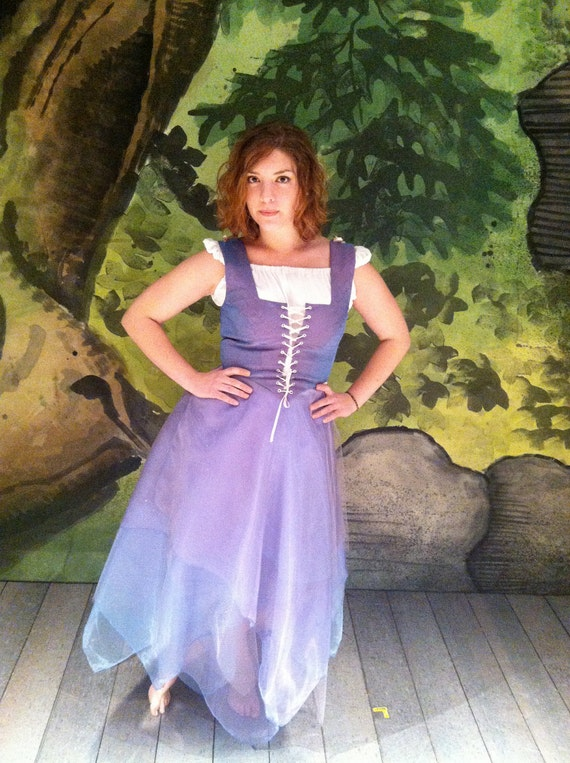 Small Periwinkle Lace Up Renaissance Bodice