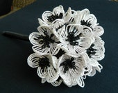 Black and White Beaded Bridal Bouquet