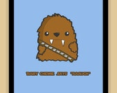 Baby Chewbacca Nursery Art modern print poster