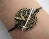 Bracelet-bird bracelet,arrow bracelet,leather bracelet-Z101