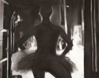 Night at the Ballet Portrait (Original) ARCadenceArt