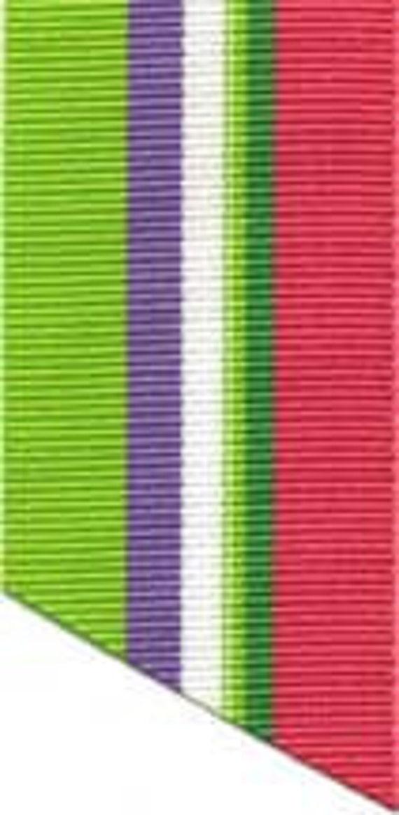 "Grosgrain Ribbon - Green, Purple, Pink - 1.5"""