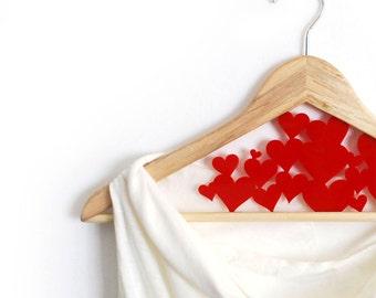 Wedding Love Hanger - Hearts - customize hanger - HangOnMe