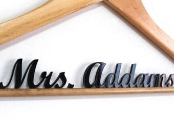 Wedding Hanger Laser Cut - personal name hanger - customize hanger - HangOnMe