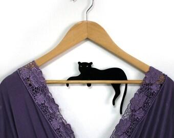 Hanger - Black Cat - Acrylic Laser Cut customize hanger - HangOnMe
