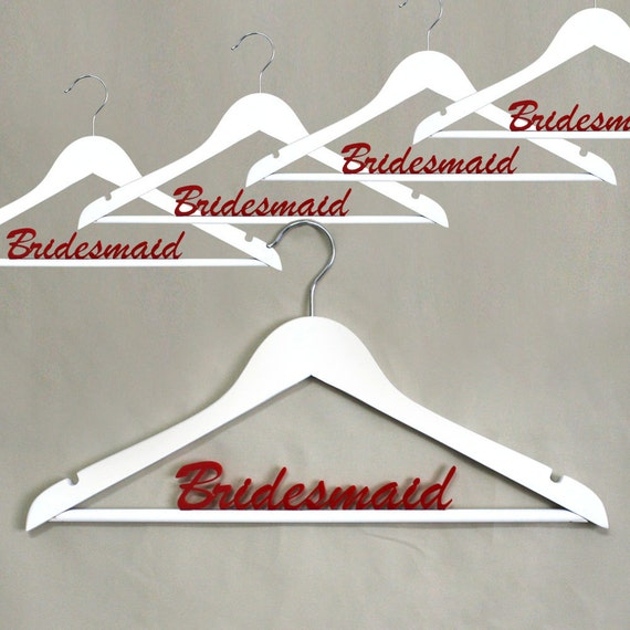 Bridesmaid Hangers 5 pieces - Personalize Wedding hanger - HangOnMe - Acrylic Laser Cut