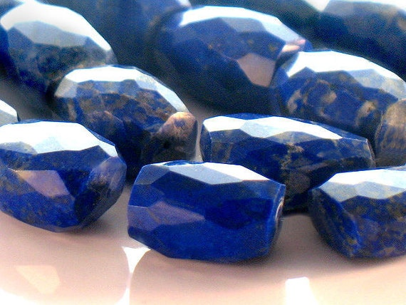 Ultramarine Lapis Lazuli Faceted Nugget Focal Beads Gemstone AA Plus Quality 15 to 22mm For Handmade Jewelry Design