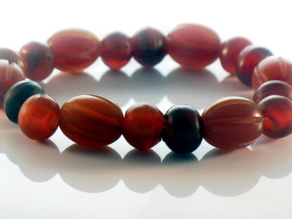 Horn Beads Tribal Ethnic Carved Oval and Rondelle Mix Organic Earthy and Natural For Handmade Jewelry Design RESERVED