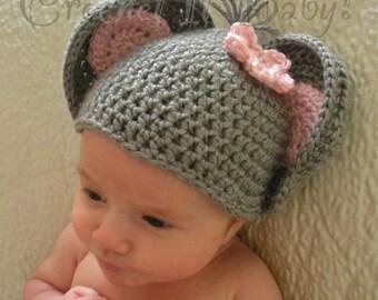 Crochet Little Mouse Hat (4 Sizes) - PATTERN ONLY