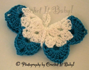 Crochet Butterfly Pin/Hair Clip - PATTERN ONLY