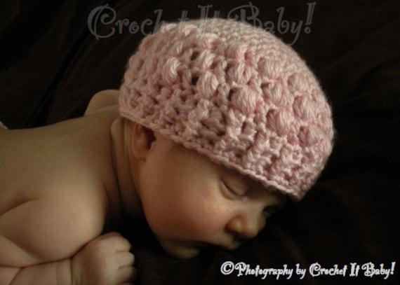 Crochet Pink Bubblegum Hat (4 Sizes) - PATTERN ONLY