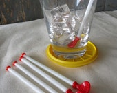 Vintage Hand Blown Glass Drink Stirs