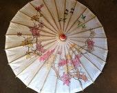 Branch and Hummingbird design Oriental/Asian Rice Paper Parasol/ Umbrella