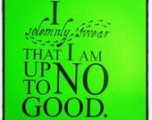 Harry Potter Wall Decal 'I solemnly swear that i am up to no good.'
