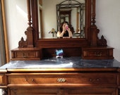 Store clearance, Antique Marble top Dresser with Original mirror