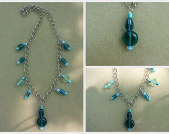 Chain Green Glass Necklace