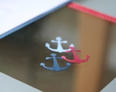 CUSTOM LISTING: 300 Pc - Anchor Confetti Cutouts Paper Embellishment Table Scatter