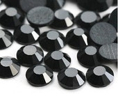 288pcs Flat back Jet Black Rhinestones ss30 wholesale package