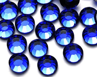 Blue Rhinestone 144pcs flat back crystal Sapphire size available 2mm 3mm 4mm 5mm 6mm