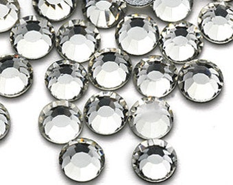 High Quality Rhinestone Flat Back 1440pcs 2mm Clear White No Hotfix
