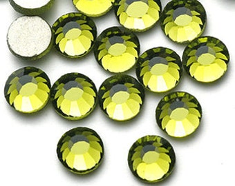 Olive Green Rhinestone Flat back 1440pcs No Hotfix