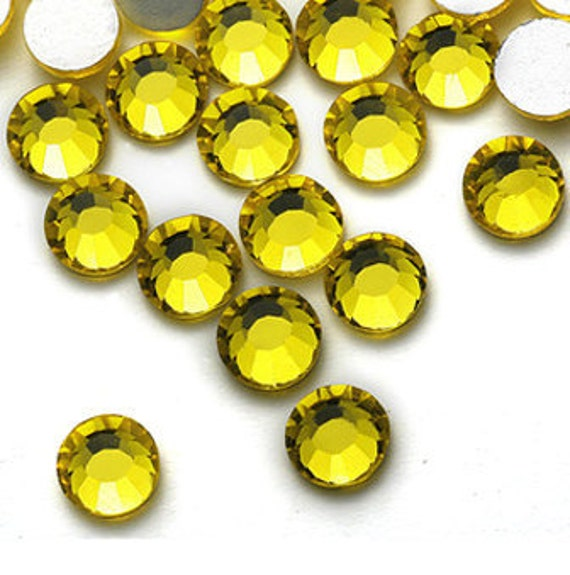 1440pc Flat Back Rhinestones crystal 2.8mm Yellow No Hotfix