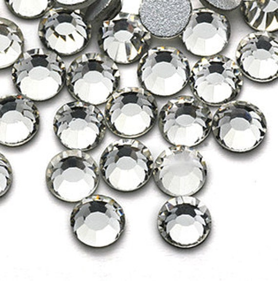 1440pc Clear Flat Back Crystals Rhinestones 2.4mm White