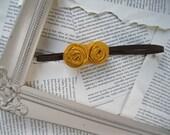 Yellow Flower Baby Headband