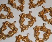 Vintage Brass Angel Findings Charms Cherubs (8)