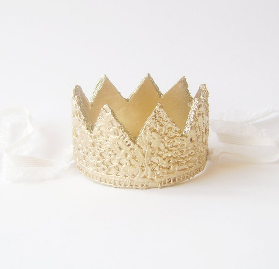 Gold Lace Crown/Tiara newborn, baby or child photography prop/birthday accessory/ little princess accessory