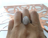 Stone Healing Ring - Pink Rose Quartz - Heal Broken Hearts, Crisis Help, Heal Emotional Wounds - Adjustable Ring