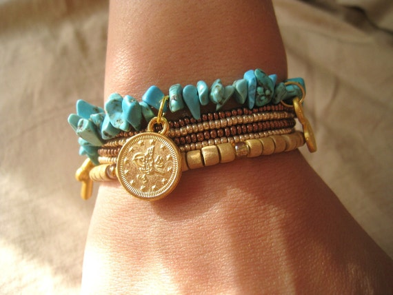 Casual,african,turkish style ethnic bracelet-beaded-Mediterranean-FREE Shipping