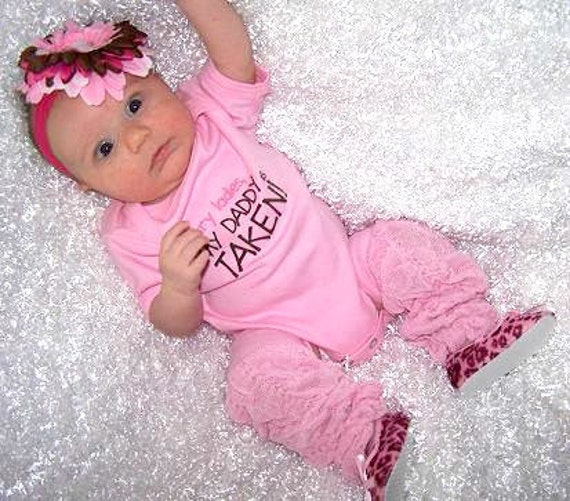 Baby Girl Onesie Bodysuit Hair Bow Headband Set Infant Girl Baby Shower Gift Set Newborn 3m 6m 9m 12m 18m