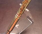 7.62 mm single fired NATO brass casing bullet pen, USCG Cutterman Officer Clip