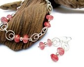 Reserved for Dawn Ferrara Tourmaline and Sterling Silver Set