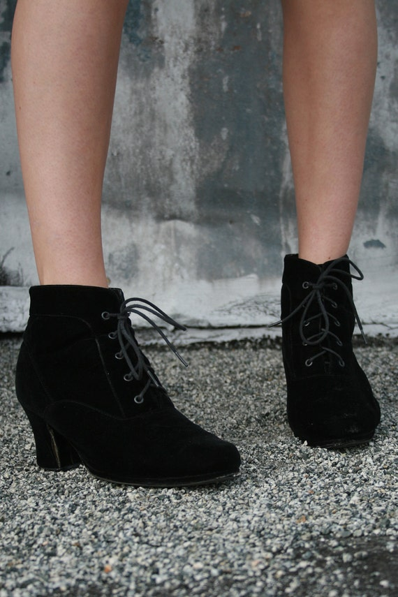 MICHAEL ANTONIO- Velvet Victorian Ankle Boots