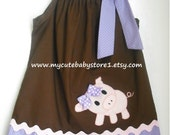 Beautiful Piggy Pillowcase dress