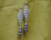 chain maille face earrings
