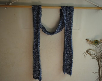 Blue boucle scarf
