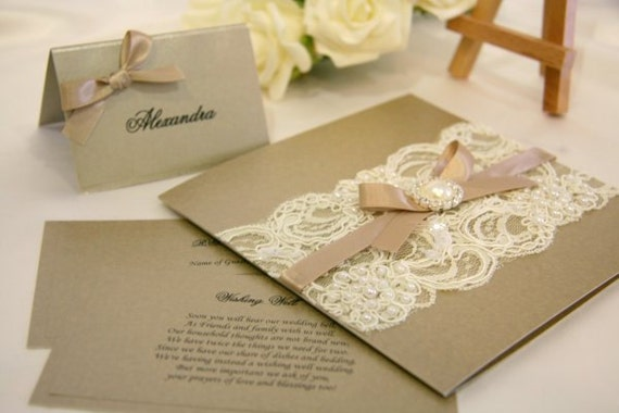 vintage lace wedding invitations special order for 50x vintage lace wedding 8288