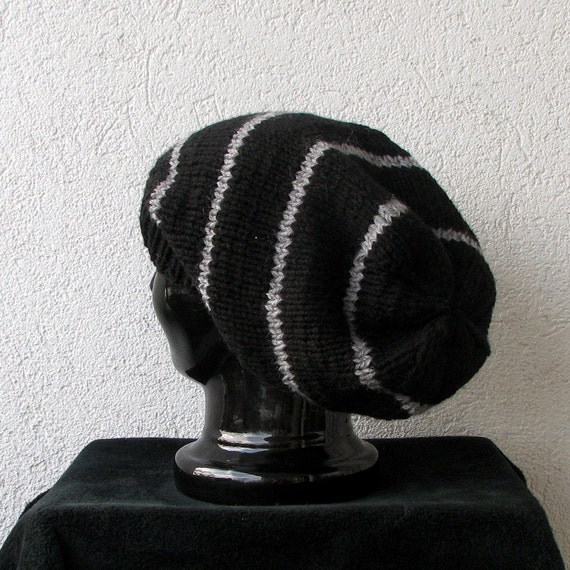 Knitted Oversized Slouchy Beanie Black Womens slouchy beanie