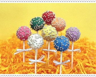 Sparkles birthday cake pops