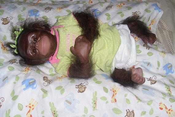 """Reborn Chimpanzee """"Trixy"""""""