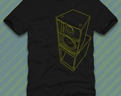 SPEAKER STACK In Yellow T Shirt on organic cotton