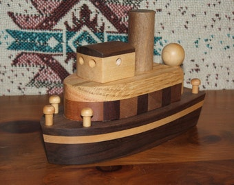 Hardwood Wooden Tugboat