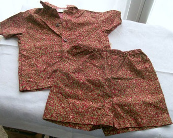 Vintage Hawaiian Toddler's Short Set by Hilo Hattie - Size 18 Months