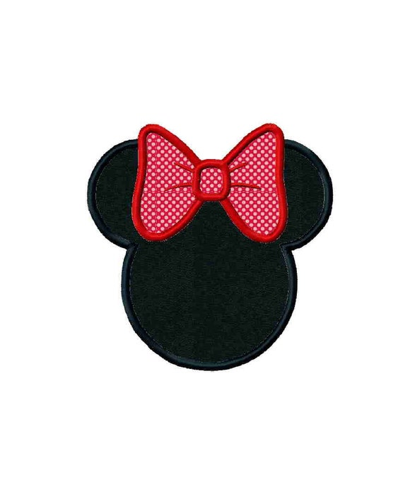 Disney inspired Miss Mouse digital machine embroidery design - several sizes applique and fill