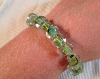 Teal Glass Bead Bracelet
