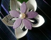 Paper Flower Boutonniere,Purple Handmade Boutineer, Purple Origami flower Boutonniere, Purple wedding Boutonnieres, Men's wedding accessorie